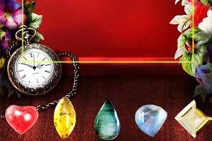 並べた宝石をもとに鑑定します。